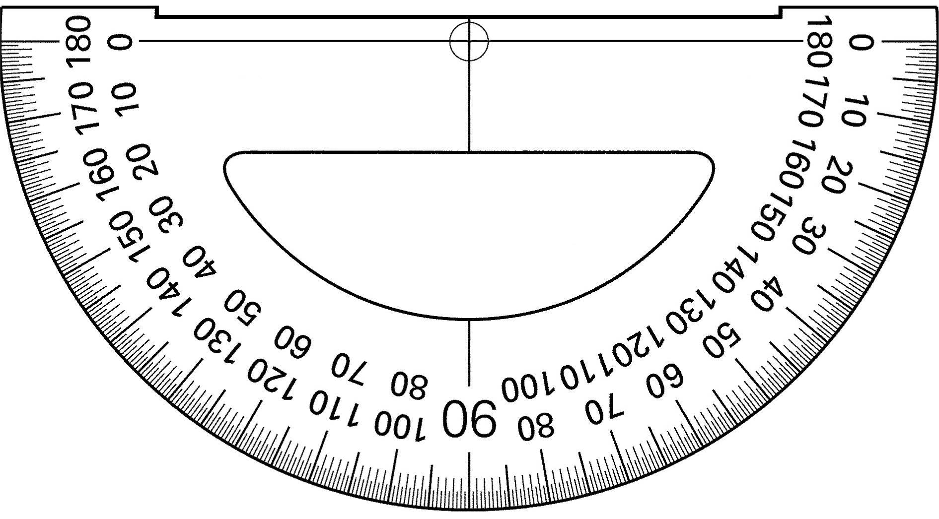 It is a photo of Dynamite Small Printable Protractor