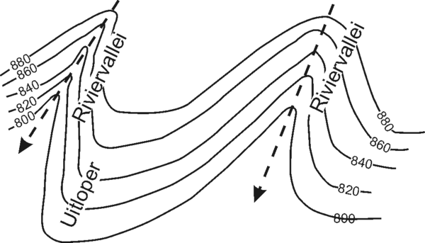 Contour Line Drawing Geography : Sosiale wetenskappe die lees van kontoerpatrone op n by