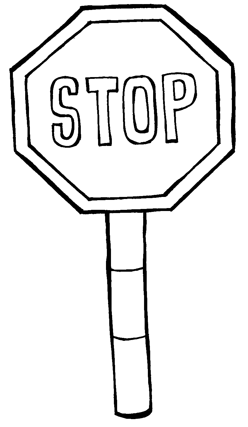 Colour the road signs safety by openstax for Safety signs coloring pages