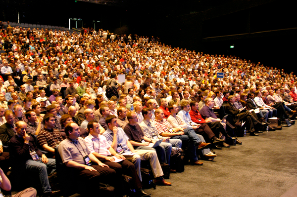 a large audience