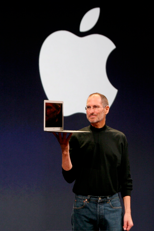 Steve Jobs giving a presentation