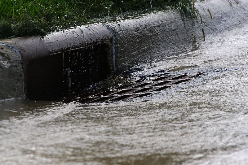 photograph of a storm drain