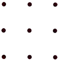 An array of 9 large dots.