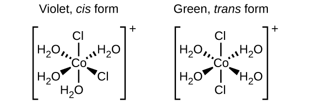 label the molecules as cis or trans