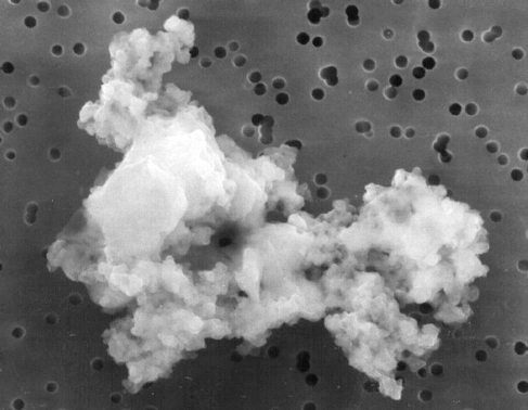 Photograph of a fragment of cometary dust.