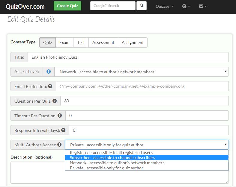 Create Multi-Authors Quiz