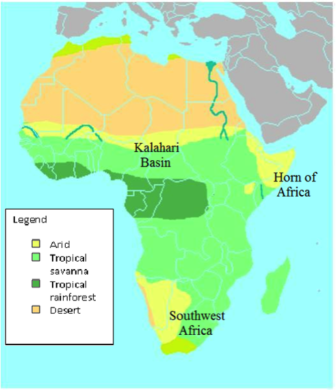 A climate map of Africa.