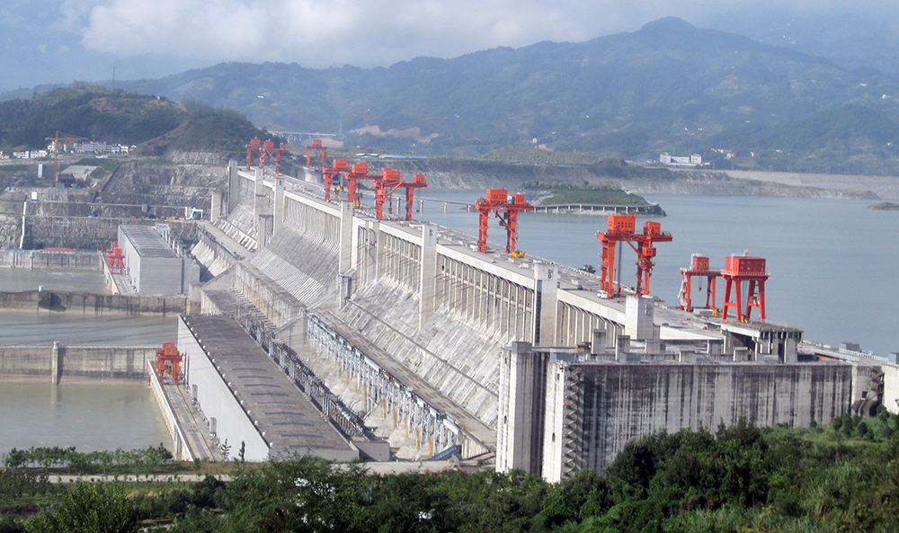 Photograph of the Three Gorges Dam in central China.