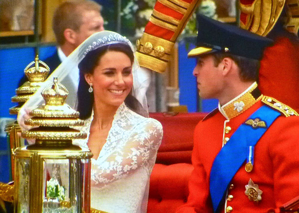 Prince William and Catherine Middleton on their wedding day.