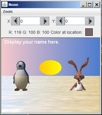 This image shows the result of merging an image of a penguin  with an image of a rabbot. The picture morphs from the penguin image on the left to the rabbit image on the right.