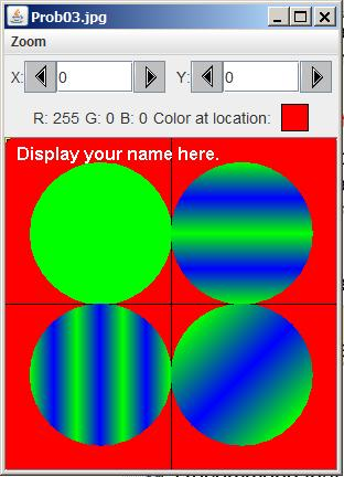Image showing four circles with different gradient patterns in each circle.