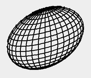 This is a wireframe image of a 3d sphere that is used as input to the program.