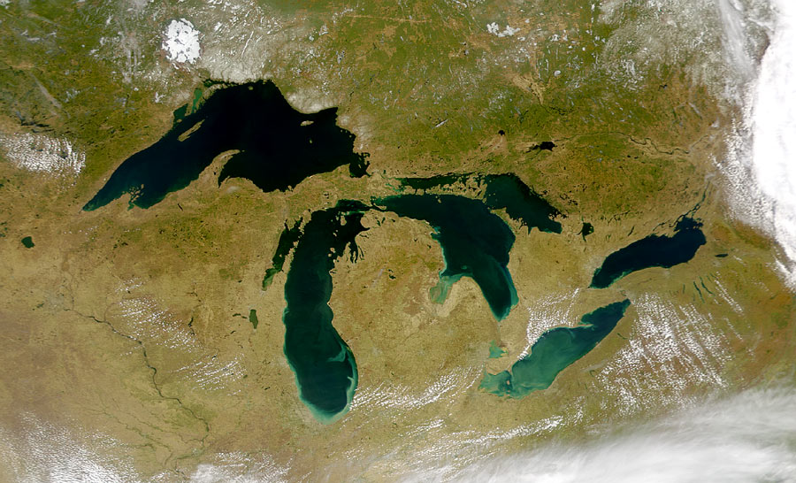 photograph of the great lakes