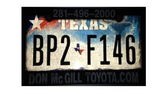 Test License Plate