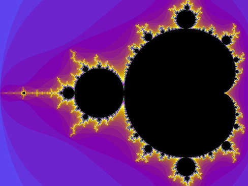 A visual representation of the Mandelbrot set