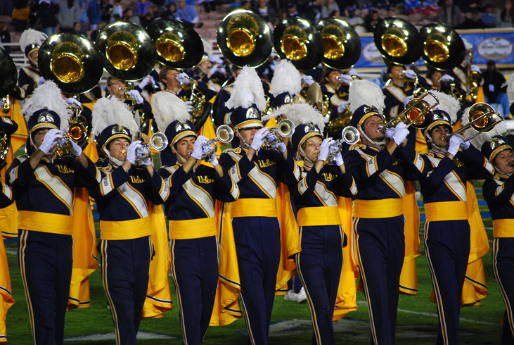 Photo of the UCLA marching band.