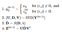 An equation for matrix completion