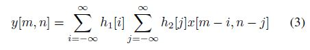 Separable Convolution Equation