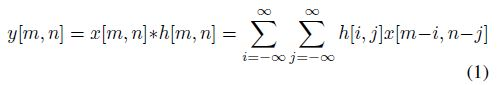 2D Convolution Equation